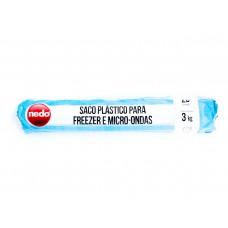Saco Plástico para Freezer e Microondas MÉDIO - caixa com 25